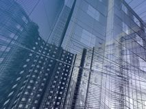 Abstract architectural background. 3d render illustration on white background Royalty Free Illustration