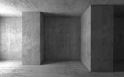 Abstract architectural background, empty 3d room Royalty Free Stock Photo