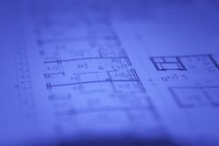 Abstract architectural blueprints Royalty Free Stock Photos