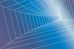 Abstract architectural construction. In blue gradients and vector royalty free illustration