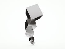 Abstract architectural 3D design with cubes Stock Photography