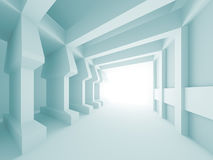 Abstract Architectural Design. 3d Illustration of Blue Abstract Architectural Design Royalty Free Stock Image
