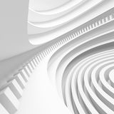 Abstract Architectural Design. 3d Illustration of White Abstract Architectural Design Stock Photos