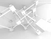 Abstract Architectural Design. Modern Architecture Detail. White. Background. 3d Render Illustration Royalty Free Stock Images