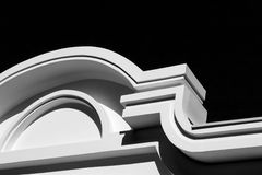 Abstract architectural detail of the facade of a modern building. Black and white  filter Royalty Free Stock Image