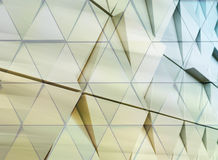Abstract architectural detail. Abstract architectural illustration. triangles double exposure facade Stock Image