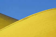 Abstract architectural detail . modern architecture, yellow panels on building facade. Stock Photos