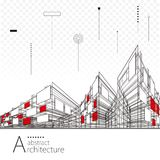 Abstract Architectural Drawing Background Royalty Free Stock Images