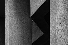 Abstract architectural fragment in black and white Stock Images