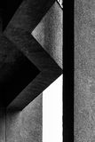 Abstract architectural fragment in black and white Stock Photo