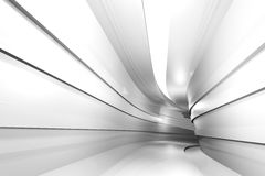 Abstract architectural geometric background with a tunnel. Going to perspective. 3d render Vector Illustration