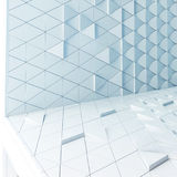 Abstract architectural pattern. Abstract 3D illustration. modern aluminum facade of triangles Stock Illustration