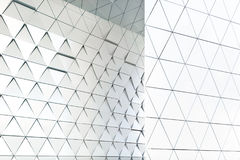 Abstract architectural pattern. Abstract 3D illustration. modern aluminum facade of triangles Royalty Free Illustration
