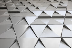Abstract architectural pattern. Abstract photo close-up view of modern aluminum ventilated facade of triangles Vector Illustration