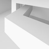 Abstract Architectural Shape. 3d Illustration of White Abstract Architectural Shape Royalty Free Illustration