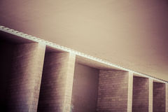 Abstract architectural wall detail. Photo of a abstract brick wall structure from a modern building Stock Photography