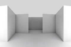 Abstract architectural white 3d background. Abstract architectural 3d background with white empty room interior Stock Images
