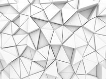 Abstract architectural white triangle low poly background Stock Images