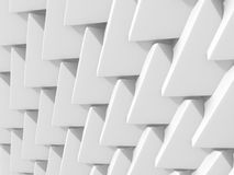 Abstract architectural white triangle low poly background. 3d render illustration Royalty Free Stock Photography