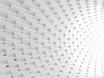 Abstract architectural white triangle low poly background. 3d render illustration Stock Photo