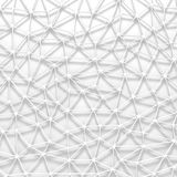 Abstract architectural white triangle low poly background. 3d render illustration Stock Image