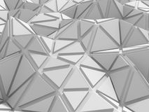 Abstract architectural white triangle low poly background Stock Photo