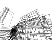 Abstract architecture. 3d abstract architecture blurry, transparent colors Stock Photography