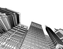 Abstract architecture. 3d abstract architecture blurry, transparent colors Stock Image