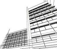 Abstract architecture. 3d abstract architecture blurry, transparent colors Royalty Free Stock Photos
