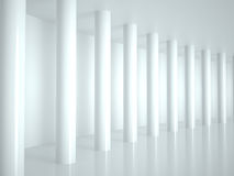 Abstract architecture, 3D. 3D illustration of white abstract architecture background Royalty Free Stock Photography