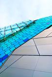 Abstract architecture. View. Glass, plastic and metal constructions Royalty Free Stock Images