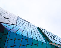Abstract architecture. View. Glass, plastic and metal constructions Stock Photography