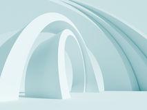 Abstract Architecture Background. 3d Illustration of Blue Abstract Architecture Background Stock Photography