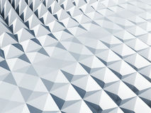 Abstract architecture background. White square cellular pyramidal surface Royalty Free Stock Image