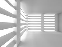 Abstract Architecture Background. Big Window Room. 3d Render Illustration Stock Photography