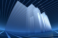 Abstract architecture background. Blue bright, wide-angle Stock Photos
