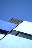 Abstract architecture background. Blue geometry. Stock Photography