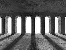 Free Abstract Architecture Background. Concrete Columns Design Constr Royalty Free Stock Photography - 80015757