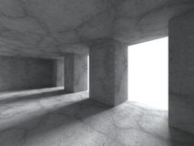 Abstract architecture background. Concrete empty room interior. 3d render illustration stock illustration