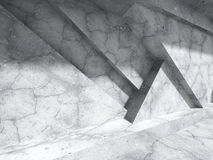 Abstract architecture background. Concrete geometric constructio. N.3d render illustration royalty free illustration