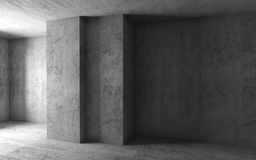 Abstract architecture background, concrete room Stock Photo