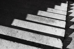 Abstract architecture background with concrete staircase and shadow stock photography