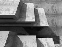 Abstract Architecture Background. Concrete Walls Construction Stock Photo
