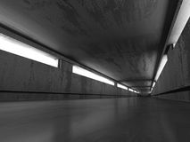 Abstract Architecture Background. Concrete Walls Dark Tunnel Stock Photos