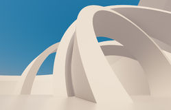 Abstract Architecture Background. 3d Blue Abstract Architecture Background royalty free illustration