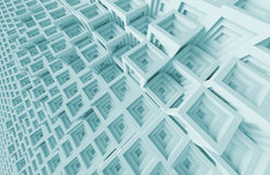 Abstract Architecture Background. 3d Blue Abstract Architecture Background Stock Photos
