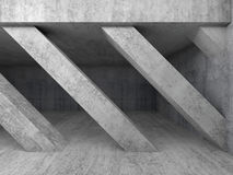 Abstract architecture background 3 d. Abstract architecture background, empty interior with diagonal concrete columns. 3d illustration Royalty Free Stock Photography