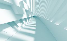 Abstract Architecture Background. 3d Illustration of Blue Abstract Architecture Background Royalty Free Stock Photography