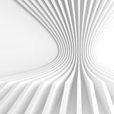 Abstract Architecture Background. 3d Illustration of White Circu Stock Image