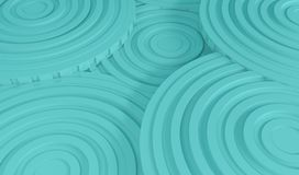 Abstract Architecture Background. 3d Illustration of White Circular Building. Modern Geometric Wallpaper Royalty Free Stock Images
